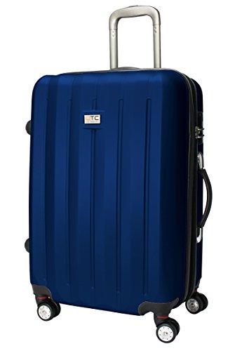 QTC DENVER 2 Hartschalen Reisekoffer XL / 77cm / 125 Liter / Reisetasche Reise Koffer (Dunkelblau)