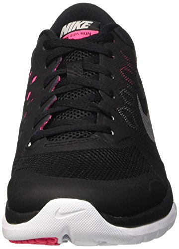 Nike Flex Run 2015, Running Femme Noir (Black/Metallic Silver/Hyper Pink/Digital Pink 014)