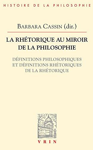 La rhétorique au miroir de la philosophie