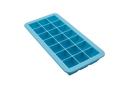Silikon Eiswürfelform - mit Silikon-Deckel - Perfekter Eiswürfelbereiter zum Einfrieren von Wasser, Lebensmitteln oder Babynahrung