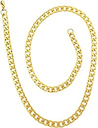 Chain For Men(Alloy Gold Plated Latest Men's Chain) - B074H1D1Y3