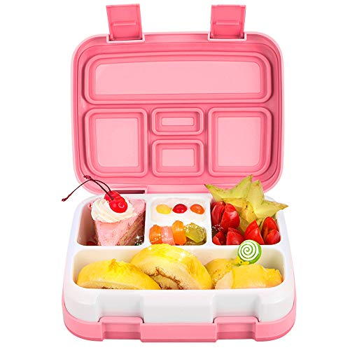 Jelife [Upgrade Version] Bento Box Kids Brotdose Kinder Auslaufsicher Kinder Lunchbox mit 5 Unterteilungen