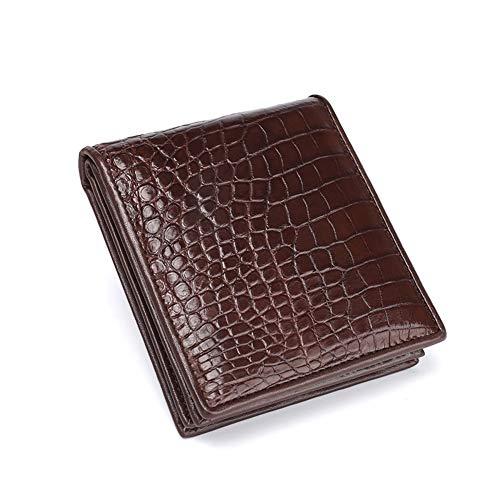 Bill Wallet (LOVEMLQL Herren Leder GeldböRse Business Leder Short Wallet Bill Holder Card Herren Clutch Keychain GeldböRse, Slot, Kartenetui, MüNzfach)