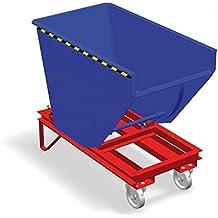 Bartels 115.519.130.2 RAL5010 - Parachoques automático para camión con palanca de liberación con rueda, SK 200 HR tipo 2000 kg de carga, 2000 L, color azul gentiano