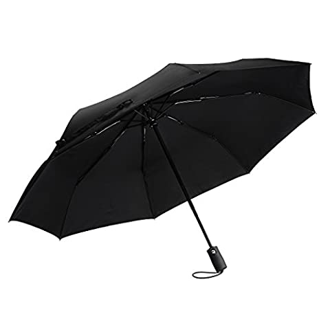 Compact Umbrella, TopElek Safety Design Automatic Windproof Umbrella, Fast Drying Travel Umbrella, Reinforce Stainless Steel & Fiberglass Construction for Windproof and