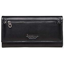 Portefeuille pour femme avec des modèles européens et américains, Mme Clutch longue section de portefeuille en cuir multi-fonction peut être mis dans le sac à main grande capacité de petite tail