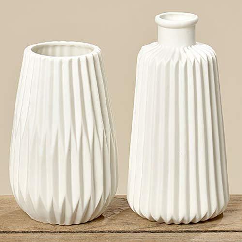 Boltze Vasen - Set (2 Stück), weiß, H17cm