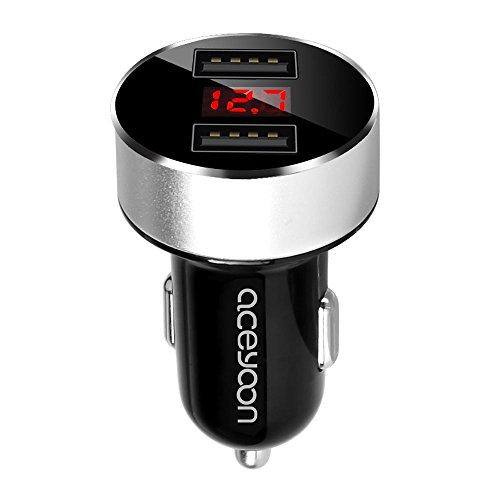 Pixnor 12V24V 2 in 1 Zigarettenanz/ünder stecken digitale Voltmeter Temperatur Messger/ät Auto Spannung Temp