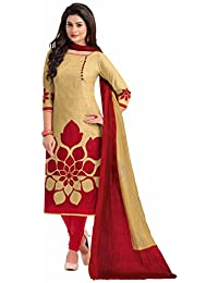 Miraan Women's Cotton Dress Material (Band1602_Red_Free Size)