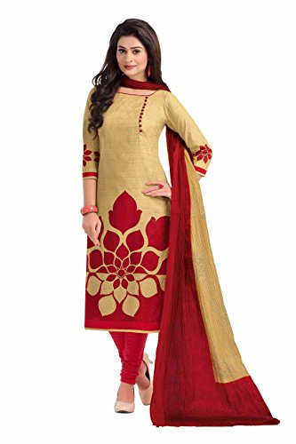 Miraan Women's Dress Material (BAND1602_Red_Free Size)