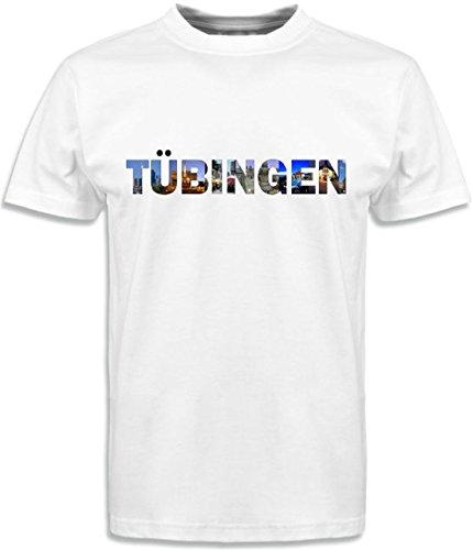 T-Shirt mit Städtenamen Tübingen Weiß