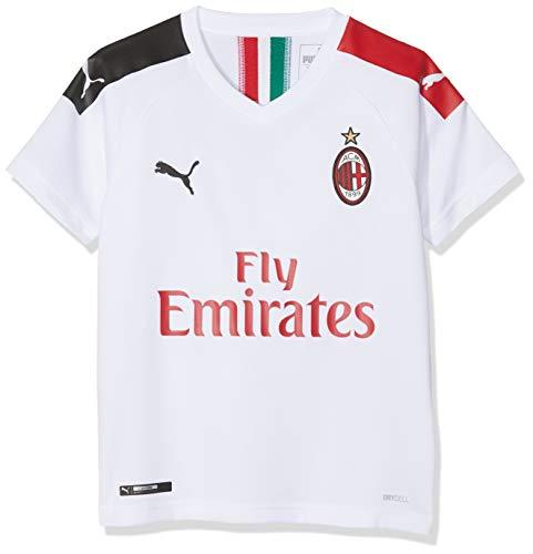 PUMA Kinder ACM Away Shirt Replica SS Kids with Sponsor Logo Trikot, White/Tango Red, 140