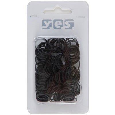 Solida Rastazopfgummi Y.e.s. schwarz 100 Stück Flexibler & unauffälliger Haargummi