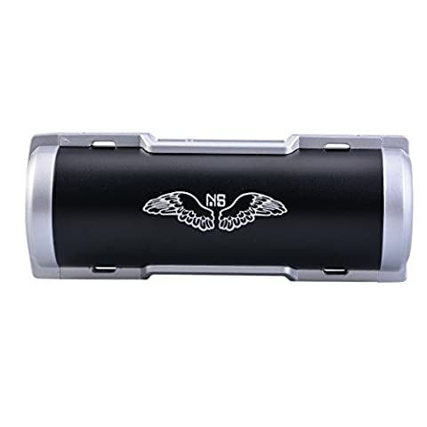 NS Portable Outdoor Bluetooth 4.0 Bike Speaker Rechargeable Power Bank with LED Light, Bike Mountain Brackets NS-BQ1S (Black)