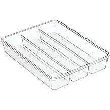 InterDesign Linus Vassoio Organizzatore Cassetto Interdipendente per Forchette, Cucchiai, Coltelli -