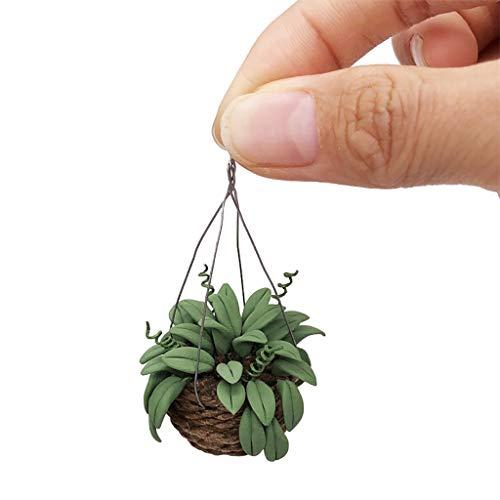 Bildung Squishy Spielzeug aufblasbares Spielzeug im Freien Spielzeug,Künstliche 1/12 Dollhouse Miniature Fake Exquisite Grünpflanze Topfpflanze ()