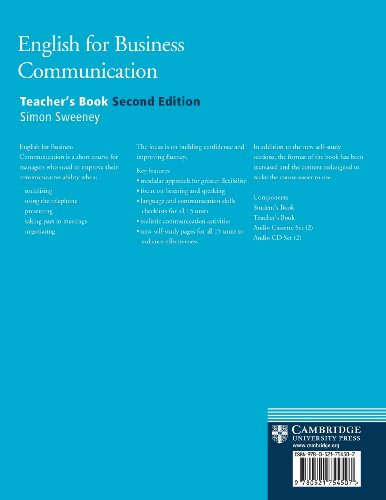English for Business Communication 2nd Teacher's book (Cambridge Professional English)