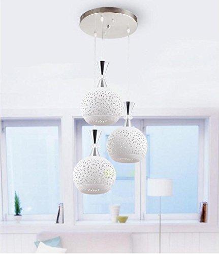 MSAJ-Ha mess Lampadari soggiorn camera da letto, Sala da pranz minimalista lampade, ristorante di tre teste in ceramica illuminazione