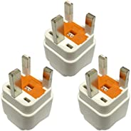Travel Adapter for KSA/UAE/UK, Plug for US/EU/DE/IT/JP/Swiss/India Electronic Appliance Adapt to KSA/Saudi/UK