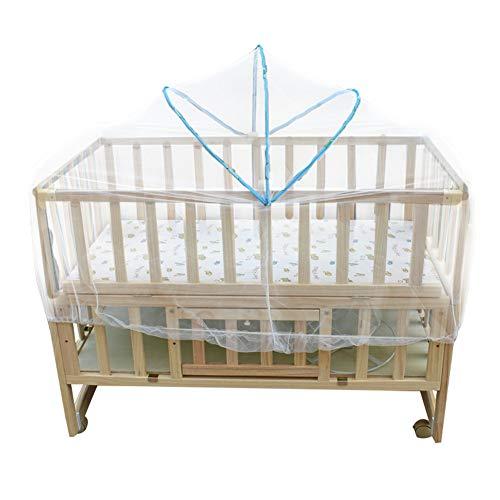 Gewölbte Babybett Moskitonetz Kinderbett, Full Cover Verschlüsselung Mesh Net Sicherheit Pop Up Zelt Neugeborenen Bettwäsche Faltbare Travel Cradle Net(100 * 60-120 * 60之间婴儿床)