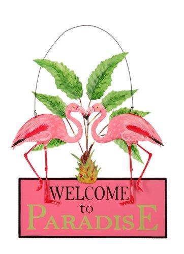 Sunset Vista Designs Kathy Hatch Pretty in Pink Flamingo Welcome to paradise sich,, 14von 25,4cm