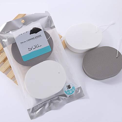 QHDZ Make-up-Werkzeug Gesichtsschwamm-Reinigungsgesichtsschwämme Natürlicher Gesichtsreinigungs-Schwamm, der kosmetische Schwämme tief reinigt - Natürliche Kosmetische Schwamm
