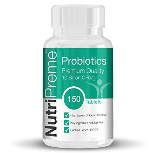 Probiotic High Strength 10 Billion Probiotics CFUS 150 Tablets (5 Month Supply) ★ 100% MONEY BACK GUARANTEE - Love them or they're FREE! ★ BUY 2 GET FREE UK DELIVERY! UK Produced - Lactobacillus - Acidophilus - By Nutripreme Test