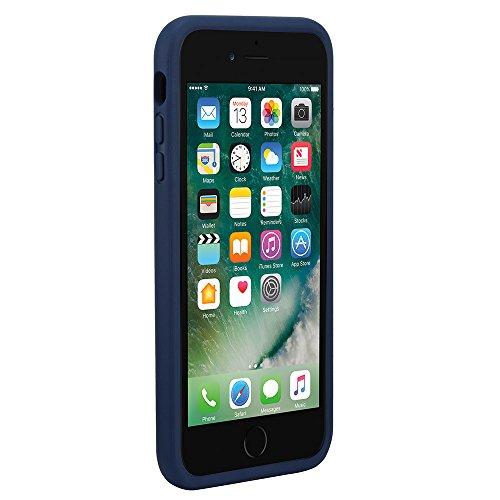 Incase Pop Case Hardshell Hülle mit Silikon-Bumper für iPhone 7 Plus - Schwarz Icon - Marineblau