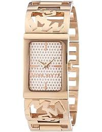 Miss Sixty R0753130501 - Reloj con correa de acero para mujer, color marrón / gris