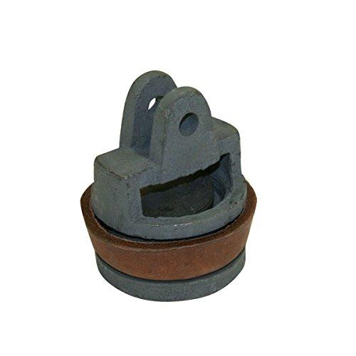 Xclou Kolben für Schwengelpumpe mit Rundflansch, Ersatzkolben komplett für Wasserpumpe mit Dichtung aus Leder Sprinklerpumpen, grün, 8 x 8 x 9,3 cm
