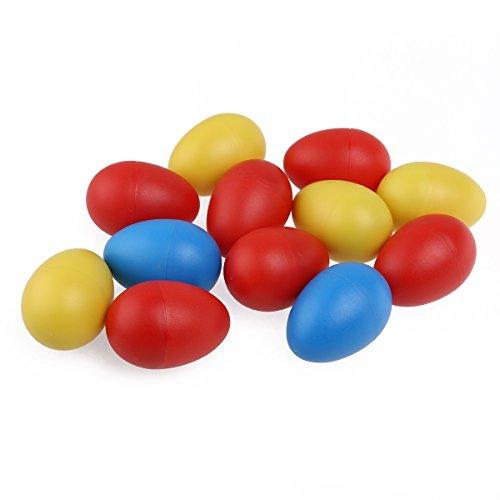 tinksky-12pcs-maracas-plastic-percussion-egg-maracas-egg-shakers-child-kids-toys-random-color