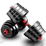 CCTYCC Manubrio, Gomma, Peso 5 kg, Muto, Regolabile, per Allenamento della Forza Sportiva, Palestra Fitness Aerobica - Un Set di Due