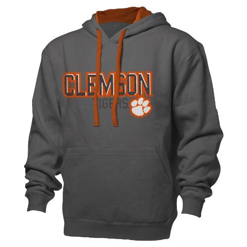 NCAA Herren Kapuzenpullover Colorblock Hoodie, Graphite/Athletic Orange