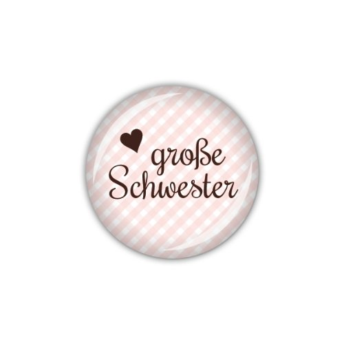 "Preisvergleich Produktbild lijelove Buttons, 04-01K2, ""Vichy"" große Schwester, rosa, 25 mm"
