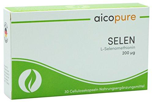 SELEN 200 µg • L-Selenomethionin • optimierte Bioverfügbarkeit • vegan • Kapseln • Made in Germany (30 Kapseln)