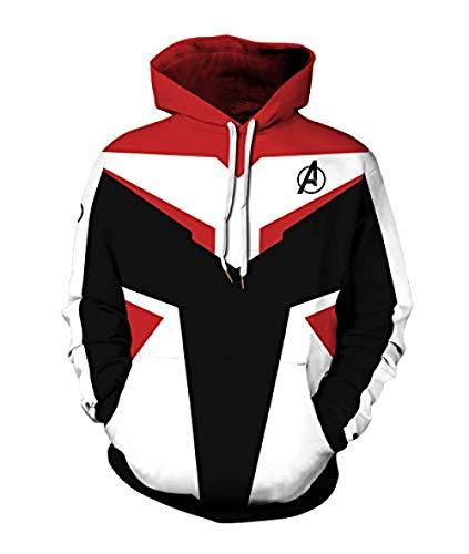 Hdezzz 3D Captain Marvel Cosplay Kostüm Pullover Hoodies Kapuzenpulli Superheld Gemusterte Pullover mit Taschen für Herren Damen S-3XL @ Ant-Man_2XL / (Ant Mann Kostüm Für Herren)