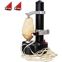 Eléctrico pelador de patatas [2cuchillas Extra]–automático de frutas y verduras cortador giratorio Apple pelar máquina–Cocina Peeling Herramienta