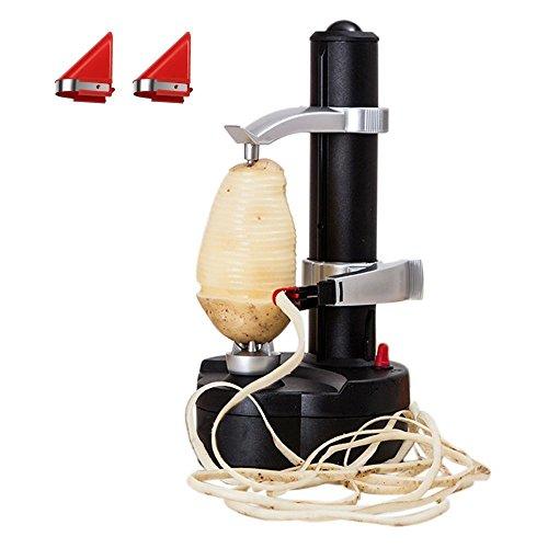 Eplucheur de pommes de terre electrique KKWLELEL [2 lames supplementaires] - Coupe automatique de...