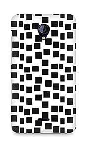 Amez designer printed 3d premium high quality back case cover for Micromax Unite 2 A106 (Cool Black Box Pattern)