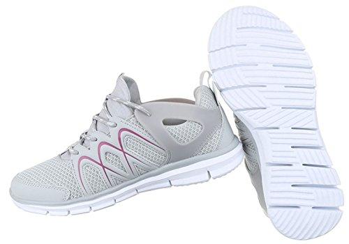 Damen Freizeitschuhe Schuhe Runner Sneakers Sportschuhe Schwarz Blau Neongrün Grau Weiß 36 37 38 39 40 41 Grau