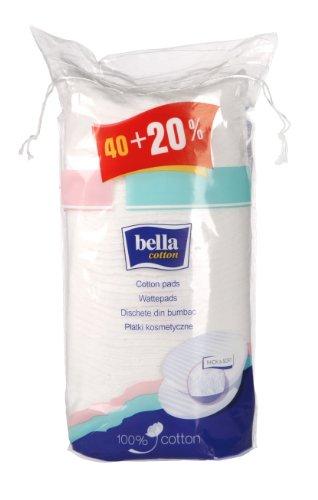 Bella Cotton Wattepads Duo, oval, groß 40 Stück plus 20% gratis, 9er Pack (9 x 48 Stück)