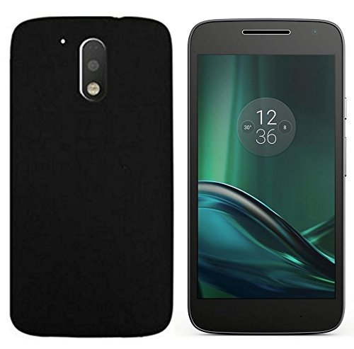 Chevron Moto G Play 4th gen (Motorola Moto G4 Play) Rubberised Matte Hard Case Back Cover - Space Black
