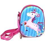 Shopaholic Unicorn 3D EVA Hardtop Small Sling Bag for Kids (Blue)