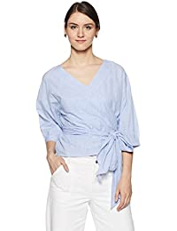 Symbol Amazon Brand Women's Striped Regular Fit Top