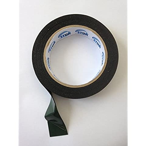 Black Double Sided Foam Tape 25mm x 4mtr Automotive Grade