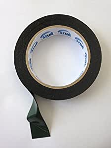 Black Double Sided Foam Tape 25mm x 4mtr Automotive Grade Number Plates Cars Trims