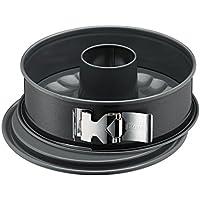 Kaiser La Forme Plus Springform mit Flach- und Rohrboden, Ø 26 cm, 2 Böden, runde Backform, SafeClick-Verschluss, schnittfest, auslaufsicher, antihaftbeschichtet, grau