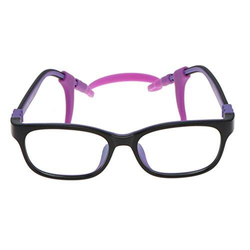 Juleya Kinder Gläser Rahmen - TR90 + Silikon - Kinder Brillen Clear Lens Retro Reading Eyewear für...