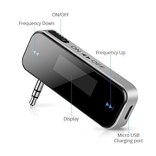 Zactech FM Transmitter Radio Adapter 3.5MM In Car for Samsung Apple iPhone HTC Sony Nokia and Mp3 Mp4