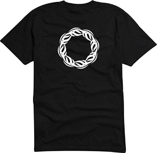T-Shirt Herren Kratzer feuerkreis Schwarz